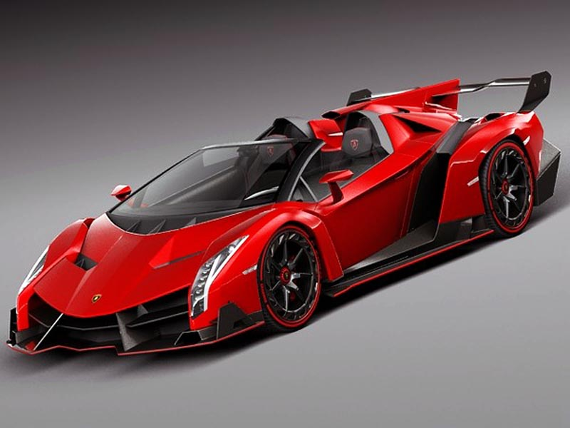 Lamborghini Veneno Roadster Most Expensive Car which costs $4.5 million.