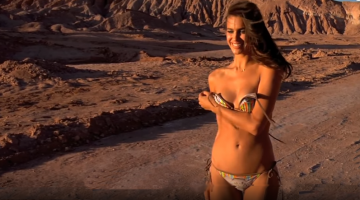Supermodel Irina Shayk goes Topless in Chile