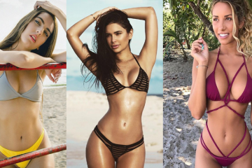 Eight Sexy Bikini Beach Babes
